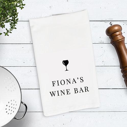 Wine Gin Bar Tea Towel