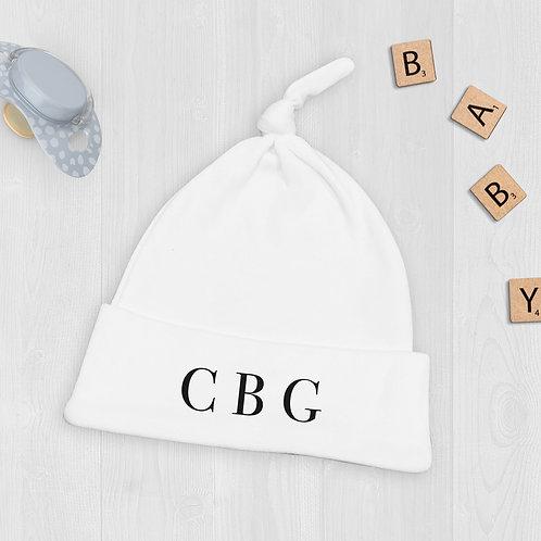 Monogram Initials Baby Hat