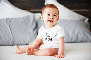 Personalised Baby Grow Bodysuit Dinosaur