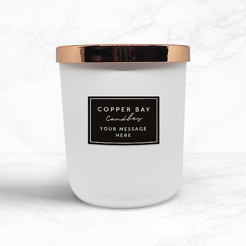 Matte White Candle with Label