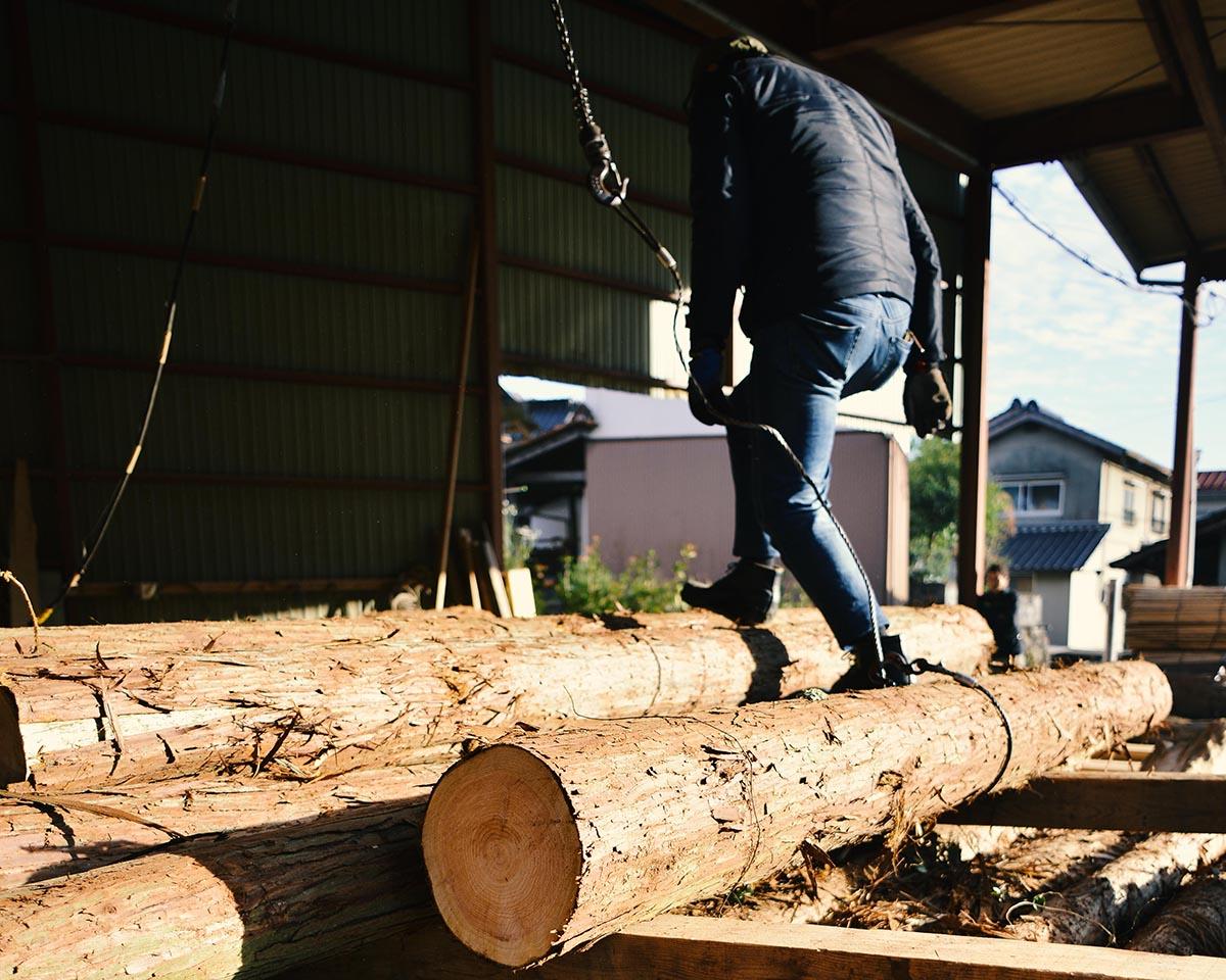 原木の移動
