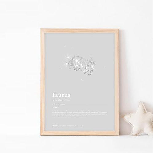 טורוס- קבוצת כוכבים המייצגת את מזל שור- צבע לונה