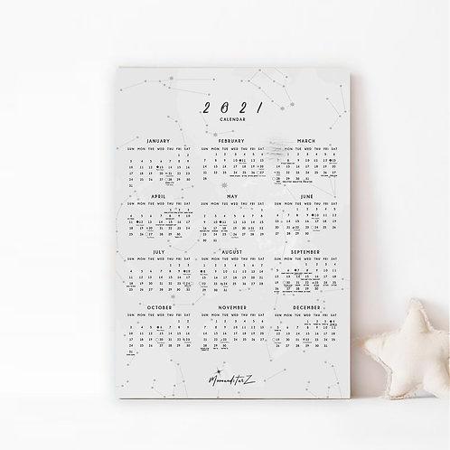 הקלנדר-  לוח שנה מעוצב לשנת 2021
