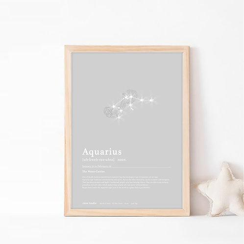 אקווריוס- קבוצת כוכבים המייצגת את מזל דלי- צבע לונה