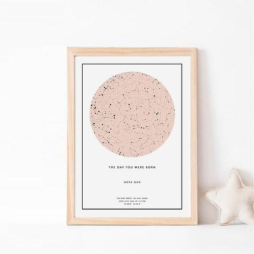 המילניאל  -  תמונת כוכבים בצבע ורוד מילניאל על רקע לבן