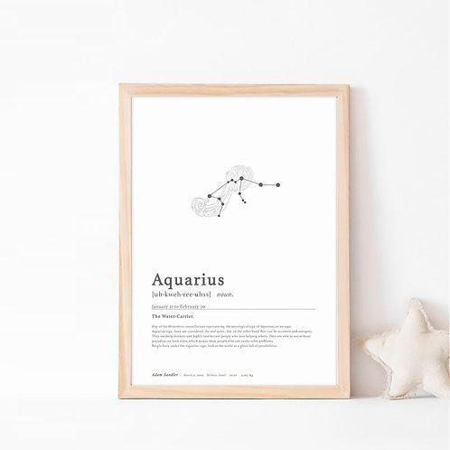 אקווריוס- קבוצת כוכבים המייצגת את מזל דלי- צבע קלאסיק