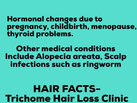 HAIR FACTS : -