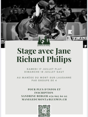 Stage with Jane in Lausanne July 17th and 18th!