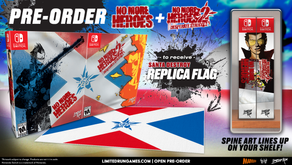 No More Heroes and No More Heroes 2: Desperate Struggle Physical Limited Runs Touchdown on Nintendo.