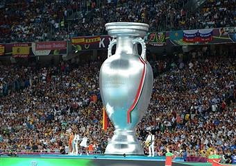 Giant Uefa Euro 2012 trophy