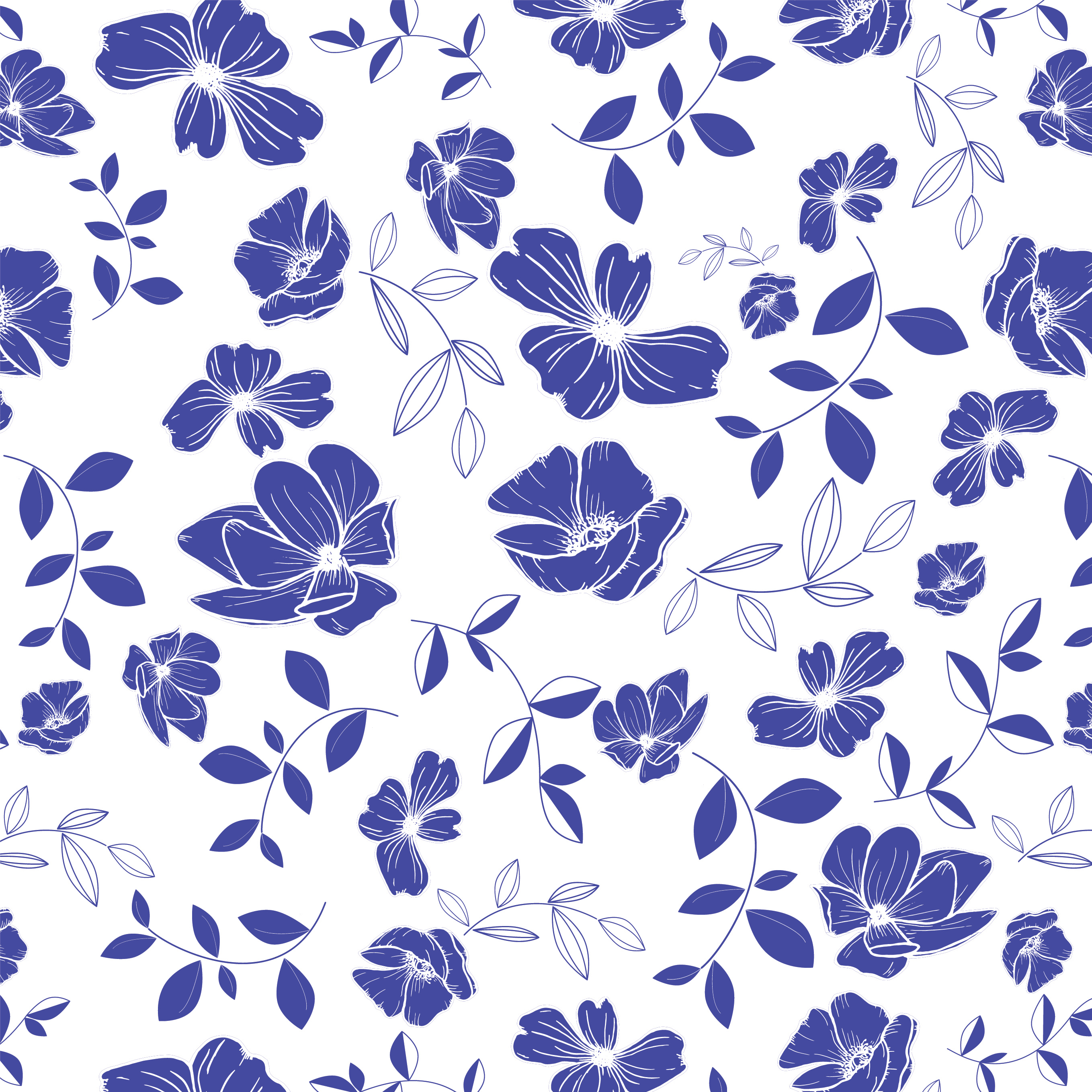 Blue China Floral