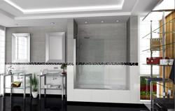 Vanitory vidrio y aluminio