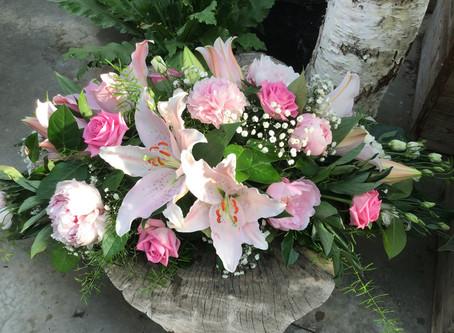 Bloemen voor begrafenissen