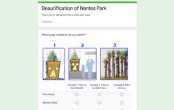 Beautification of Nantes Park Survey