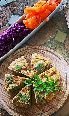 Tortilla (Spanish Omelette) and Vegetable Deli Dishes (serves 2-3)