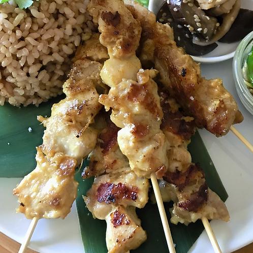"""Sate Ayam (Indonesian """"yakitori"""" ) (5 pieces)"""