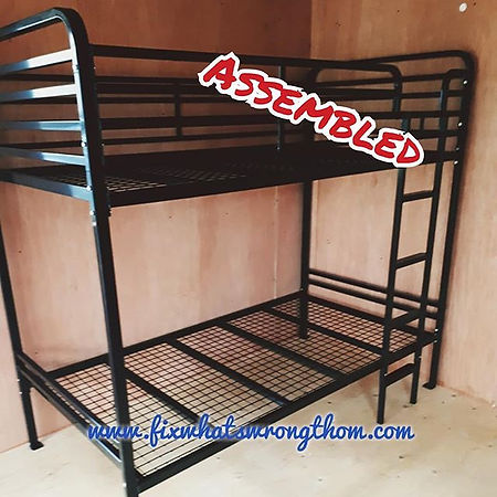 Worked on some heavy duty bunk beds toda