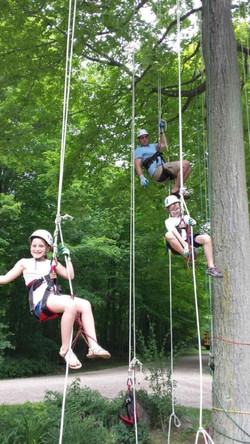 Tree rope climbing