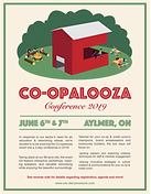 Coopalooza Brochure Front with Green Bor
