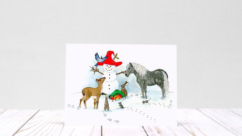 A Snowman's Wish - 5x7 Card