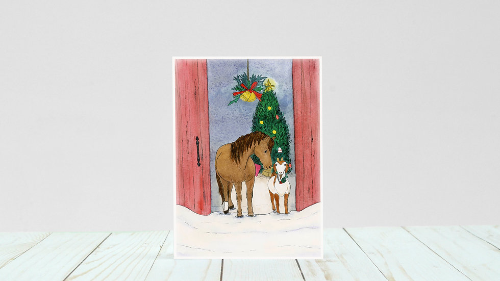 A Milly & Chip Christmas - 5x7 Card