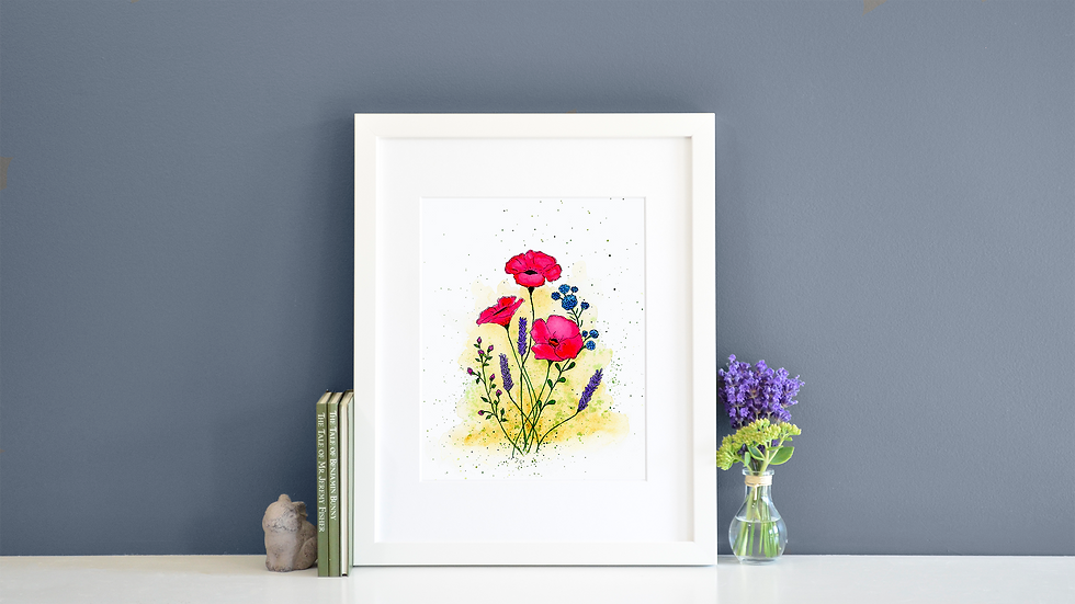 Alizarin Poppies - Print