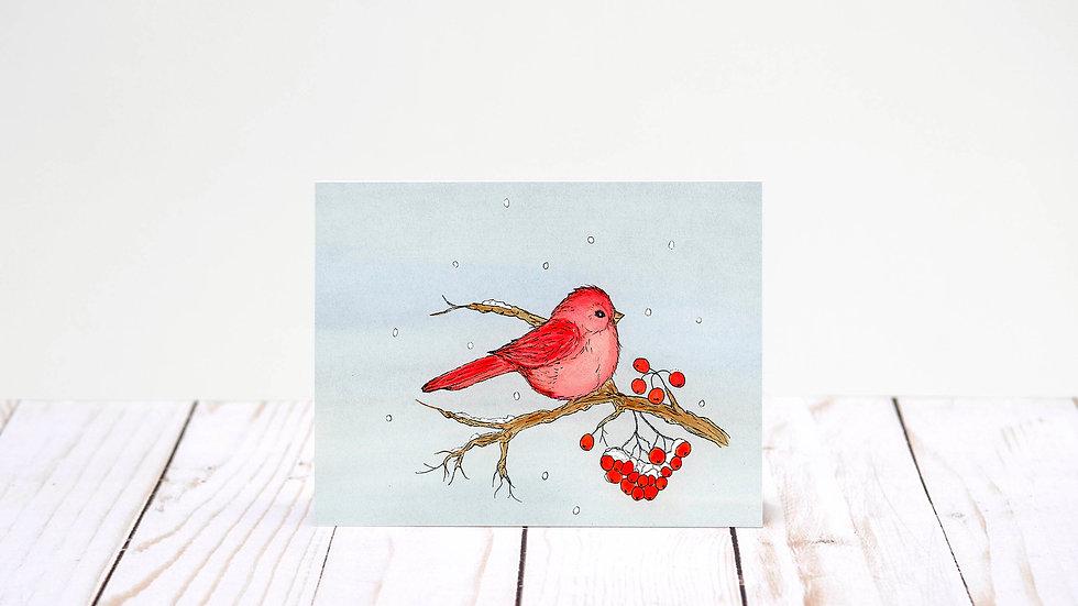 Red Bird Carrols - 5x7 Card