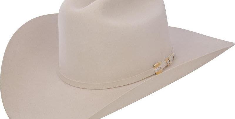 1000X Stetson Diamante Hat Made With Premium Chinchilla/Beaver - Silver Belly