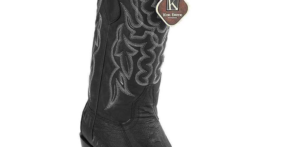 King Exotic Men's Ostrich Grasso Western Snip Toe Boots