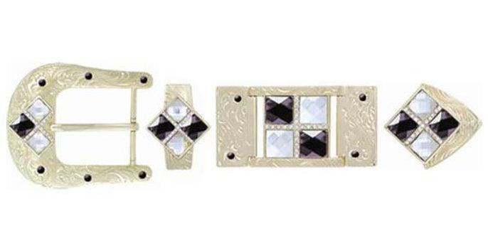 HARDWARE 4 STONES BLACK-WHITE BK3105