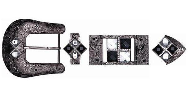 HARDWARE 4 STONES BLACK-WHITE BK3205W