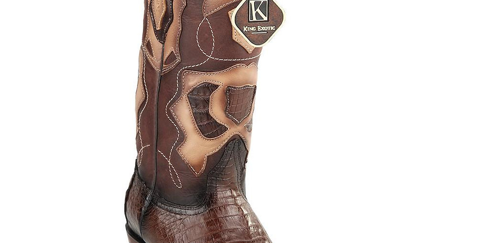 King Exotic Men's Caiman Belly Snip Toe Boots