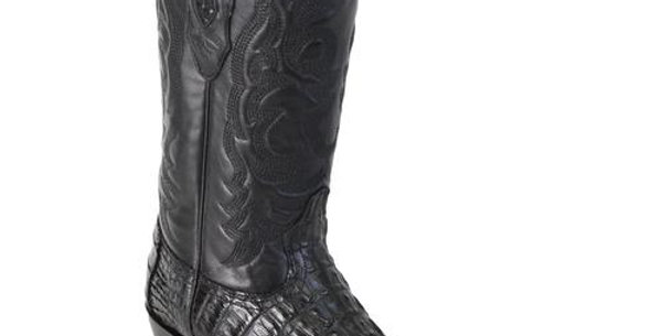 Los Altos Black Caiman Tail J-Toe Boot