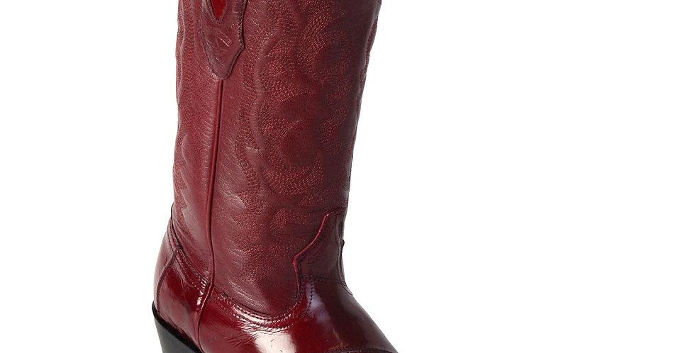 Los Altos Men's Eel Burgundy R-Toe Cowboy Boots