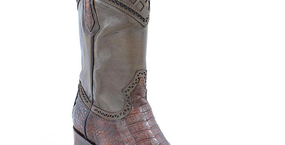 Cuadra Men's Lumber Bone Caiman Belly Boots - Semi Square Toe