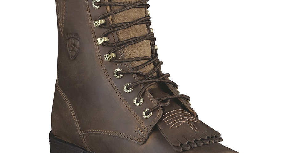 Ariat Women's Lace-Up Heritage Lacer II Roper Boots Distressed Brown