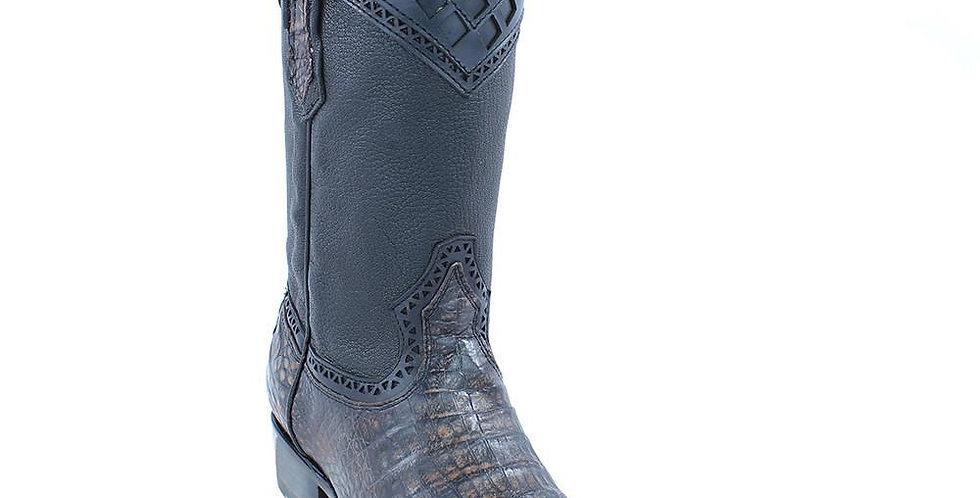 Cuadra Men's Lumber Moka Caiman Belly Boots - Semi Square Toe
