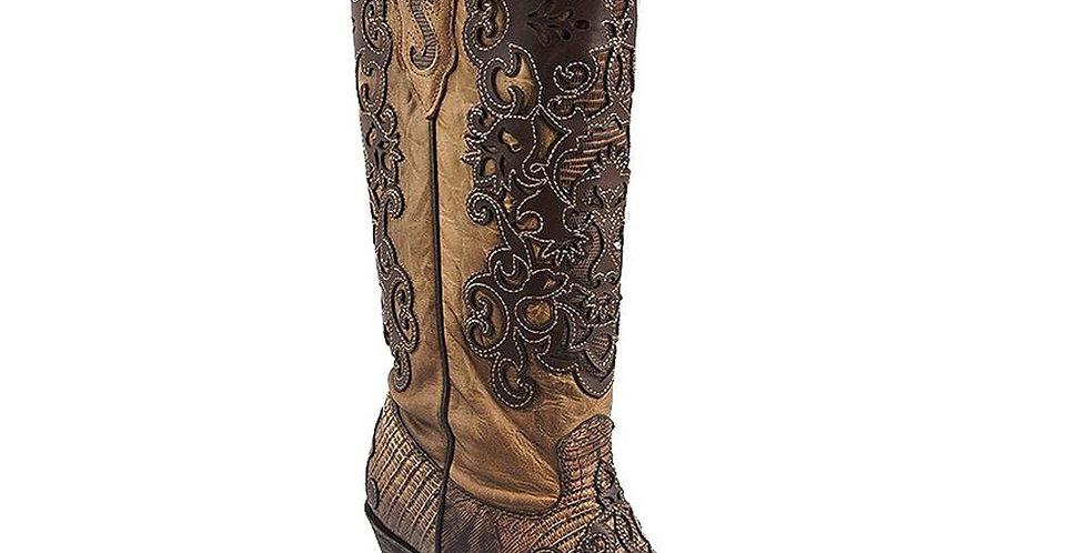 Cuadra Women's Lizard Rustic Western Boots
