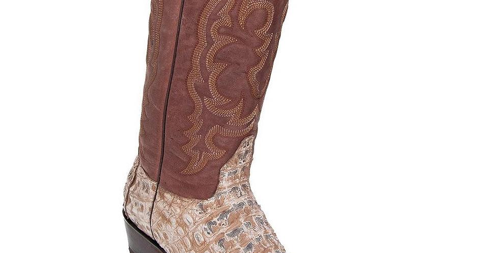 Los Altos Men's Rustic Mink Caiman Belly Snip Toe Boot
