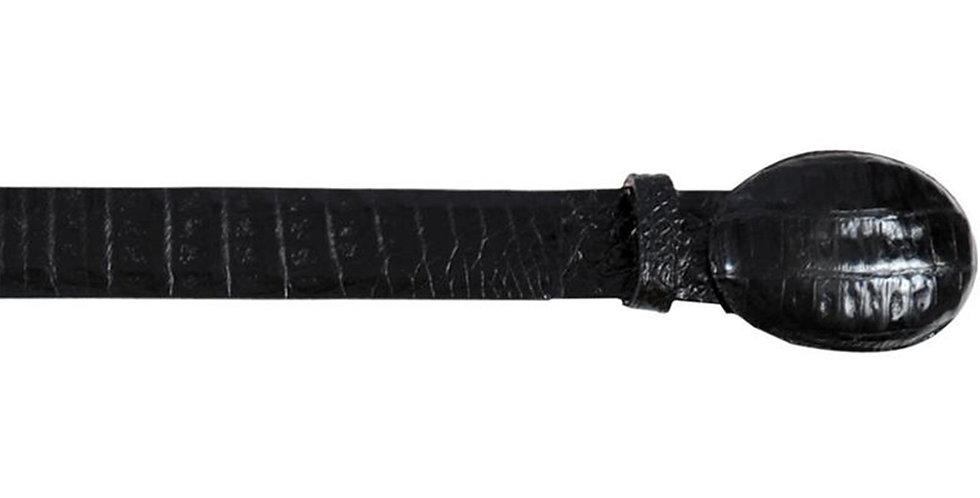 Black Caiman Belly Cowboy Belt