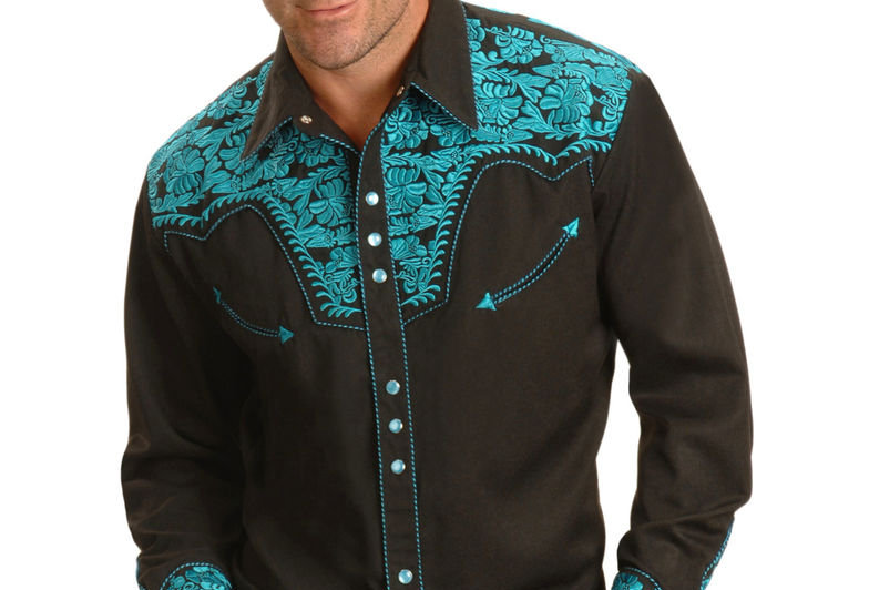 Scully Men's Turquoise Gunfighter Western Shirt