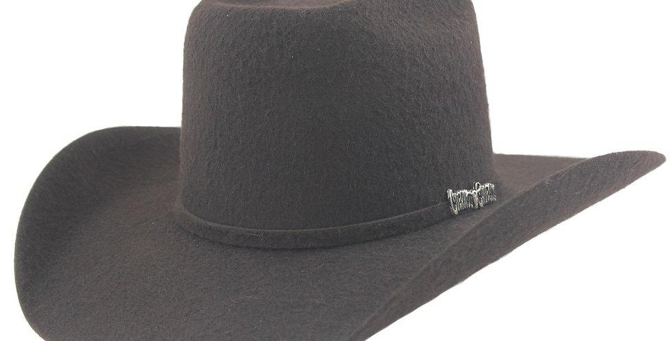 Cuernos Chuecos 10x Chocolate Grizzly Fur Felt Cowboy Hat