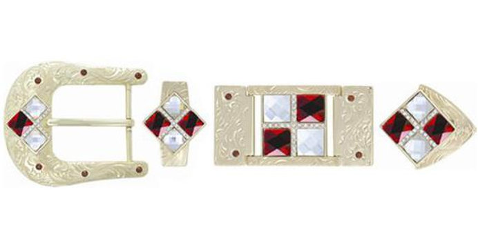 HARDWARE 4 STONES RED-WHITE BK3112