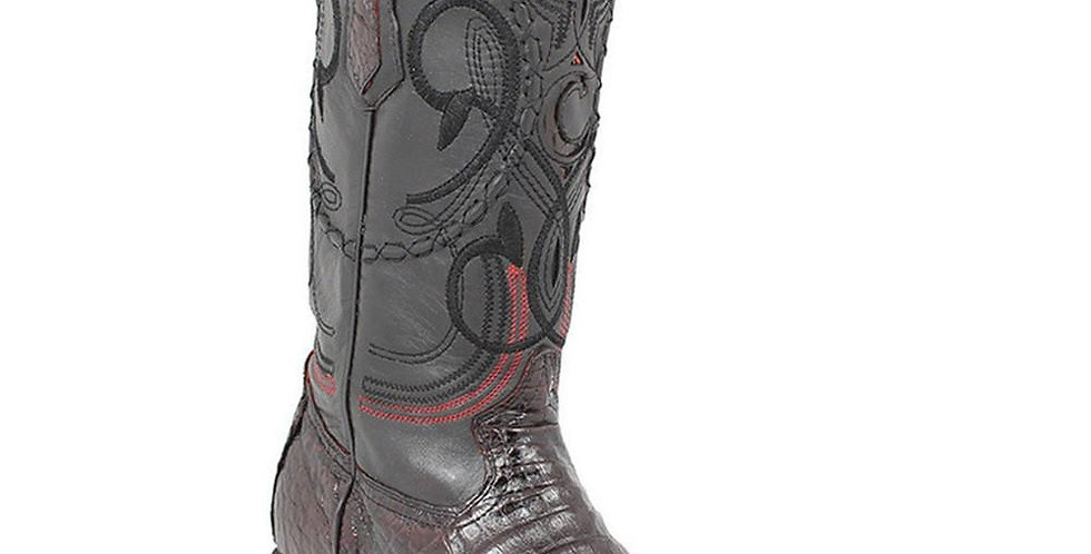 Cuadra Men's Belly Western Boot - Black Cherry