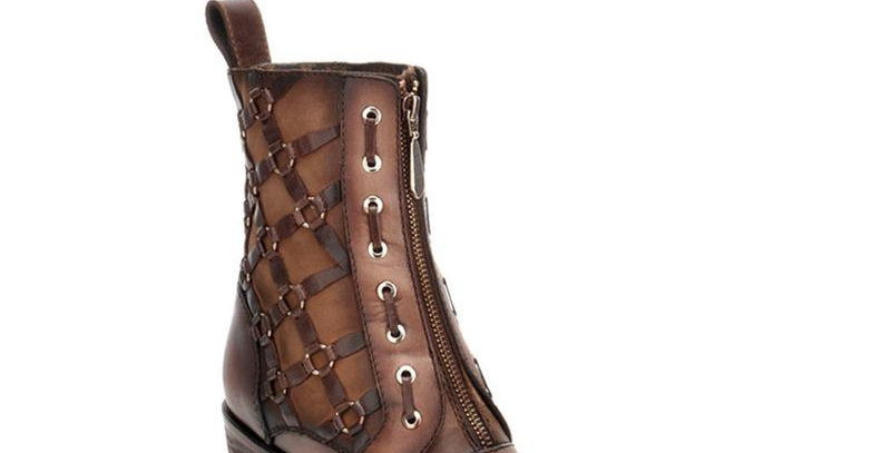 Women's Cuadra Taupe Bovine Leather Boots Handcrafted