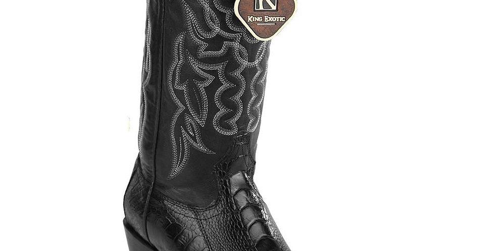 King Exotic Ostrich Leg Traditional Cowboy Boot J-Toe