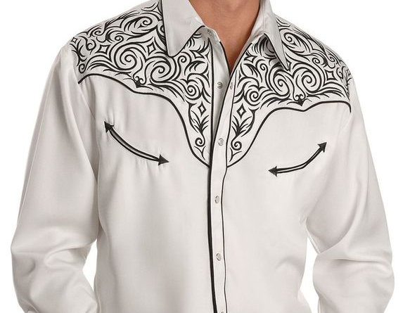 Scully Fancy Full Stitched Retro Western Shirt