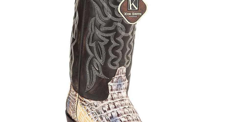 King Exotic Caiman Hornback Traditional Cowboy Boot