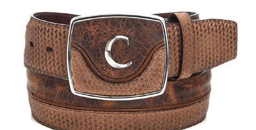 Cuadra Men's Modern Leather Belt Santana Honey
