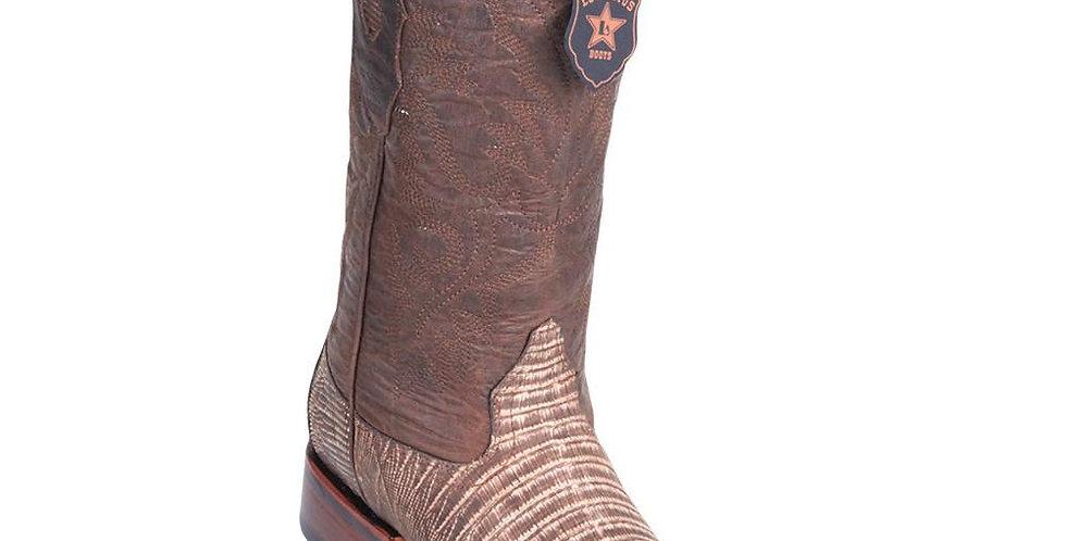 Los Altos Men's Lizard Square Toe Cowboy Boots